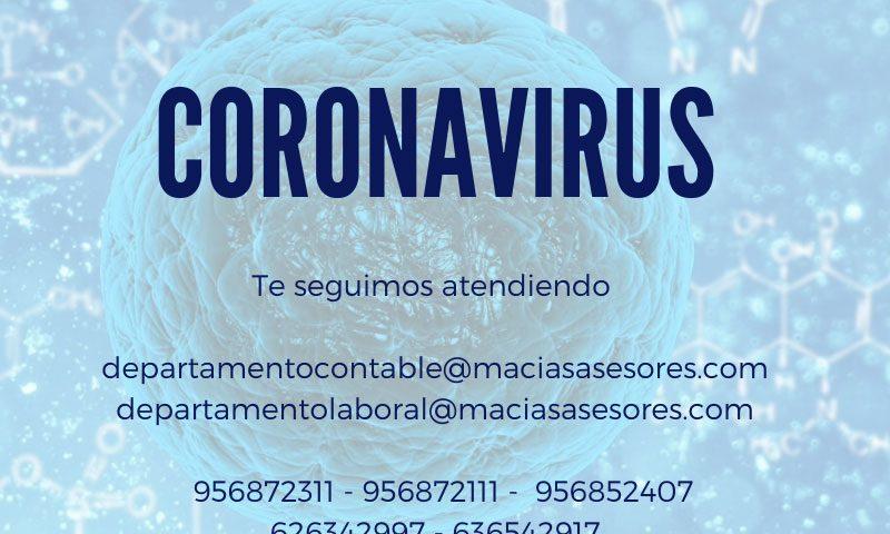 Medidas por el coronavirus COVID-19